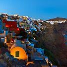 Cliffside Houses in Oia, Santorini, Greece by Yen Baet