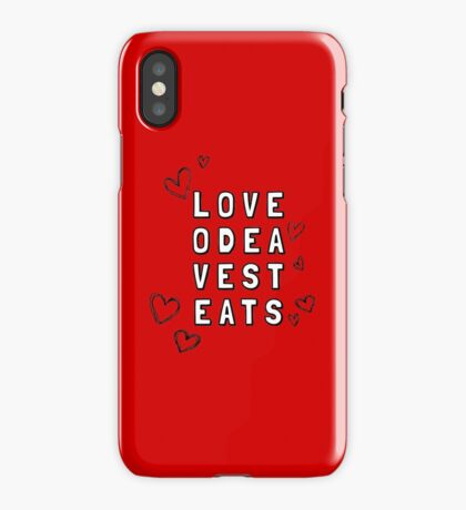 Love Odea Vest Eats iPhone Case