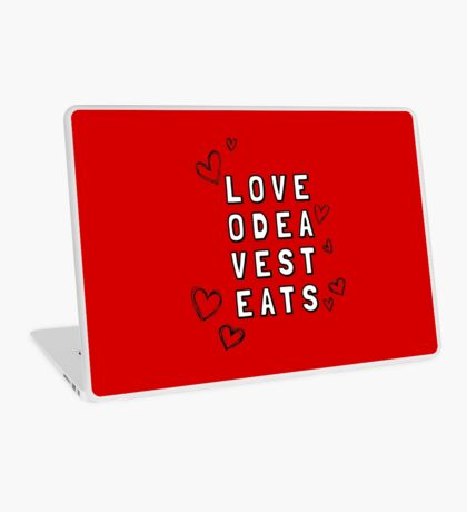 Love Odea Vest Eats Laptop Skin