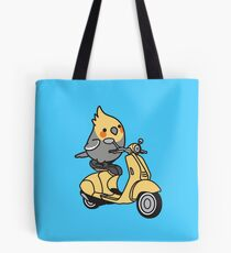 Scooter Chubby Cockatiel Tote Bag