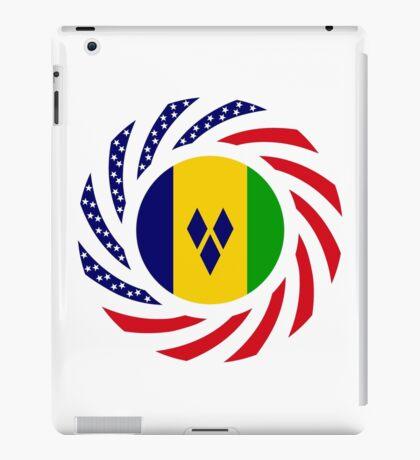 Saint Vincentian American Multinational Patriot Flag Series iPad Case/Skin