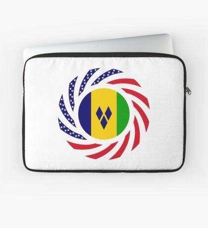 Saint Vincentian American Multinational Patriot Flag Series Laptop Sleeve