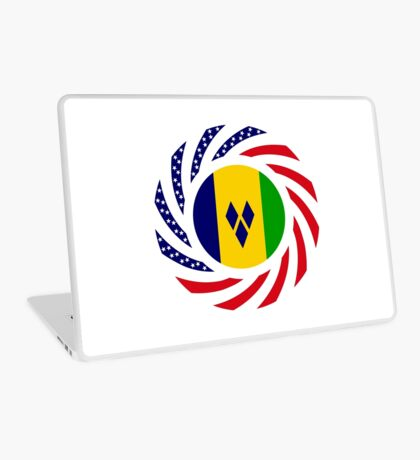Saint Vincentian American Multinational Patriot Flag Series Laptop Skin