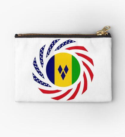 Saint Vincentian American Multinational Patriot Flag Series Zipper Pouch