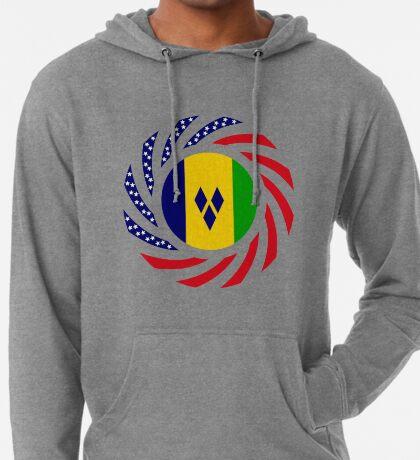 Saint Vincentian American Multinational Patriot Flag Series Lightweight Hoodie