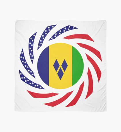Saint Vincentian American Multinational Patriot Flag Series Scarf