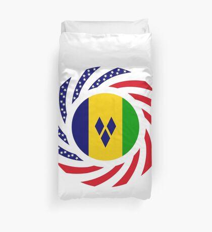 Saint Vincentian American Multinational Patriot Flag Series Duvet Cover