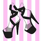 Pleaser Shoe Hot Pink Colour  by itszoesmith