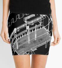 axonometric black 2 Mini Skirt