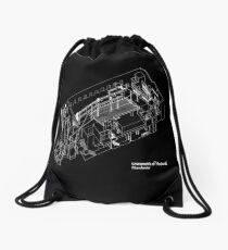 axonometric black 2 Drawstring Bag
