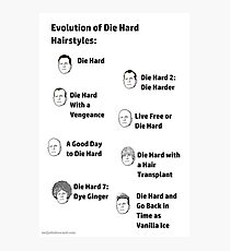 Evolution of Die Hard Hairstyles Photographic Print