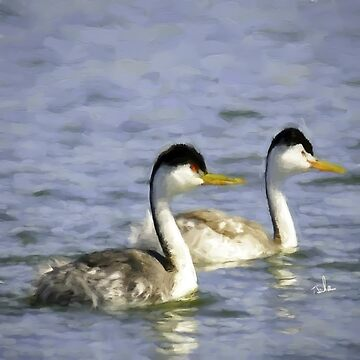 Bay Forest Pillow Grebes by TSachse