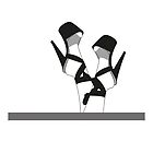 Pleaser Heels black and white 1 by itszoesmith