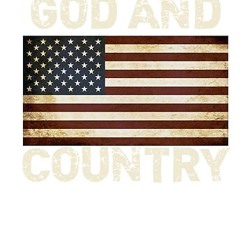 Patriotic American Flag Shirt, God and Country Christian USA Flag TShirt, Tote, Cup, Gift Items by shelley321