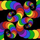 4 connected rainbow spirals by EucalyptusBear