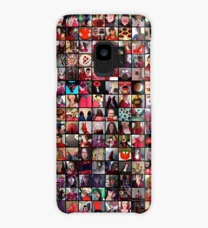 #WalkInRed2015 Large Collage Case/Skin for Samsung Galaxy