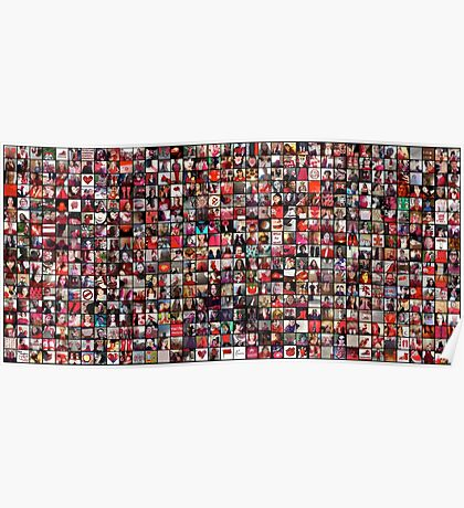 #WalkInRed2015 Large Collage Poster