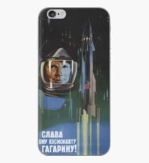Sowjetische Propaganda - Juri Gagarin Rocket iPhone-Hülle & Cover