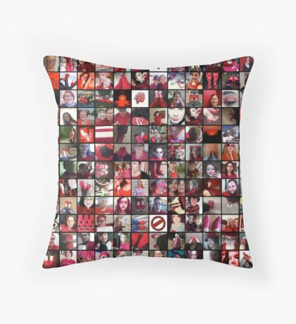 #WalkInRed2015 Collage A Throw Pillow