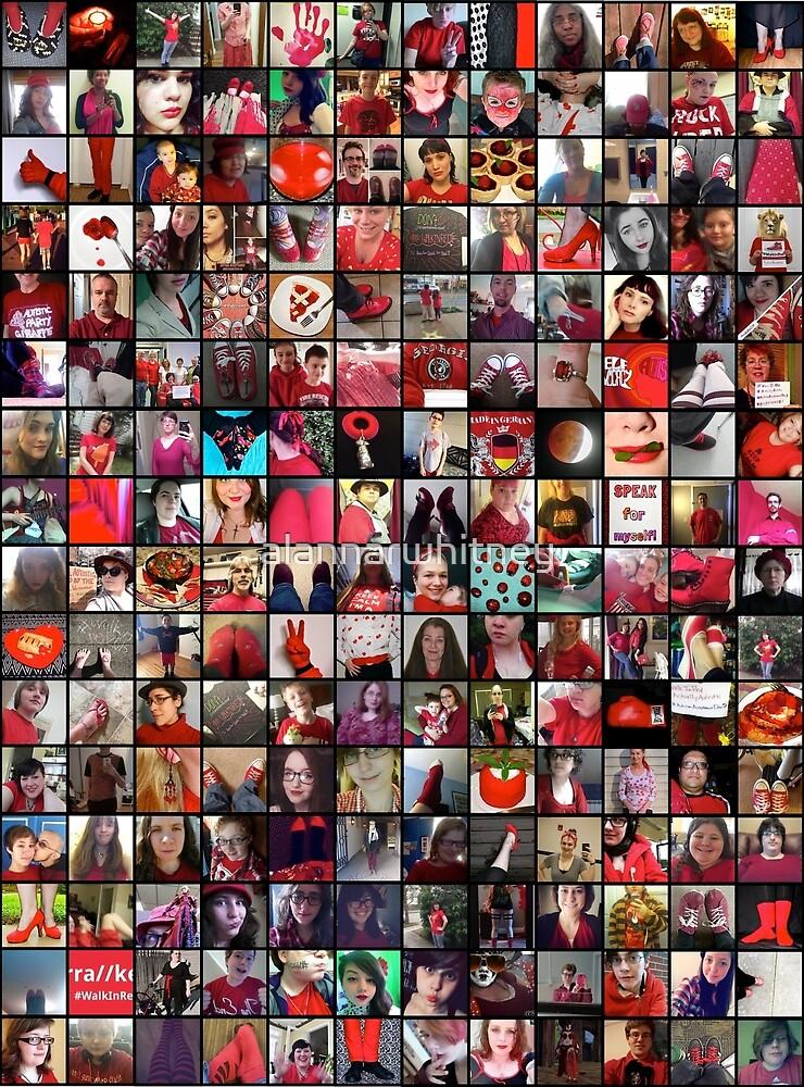 #WalkInRed2015 Collage B by alannarwhitney