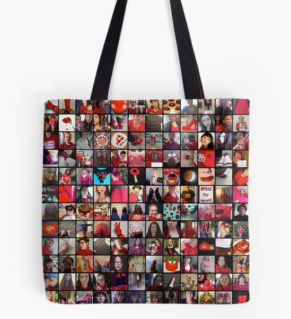 #WalkInRed2015 Collage B Tote Bag