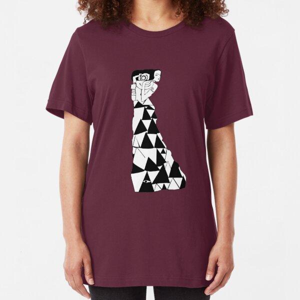 watching women -- klimt (colour) Slim Fit T-Shirt