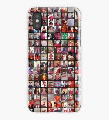 #WalkInRed2015 Collage C iPhone Case