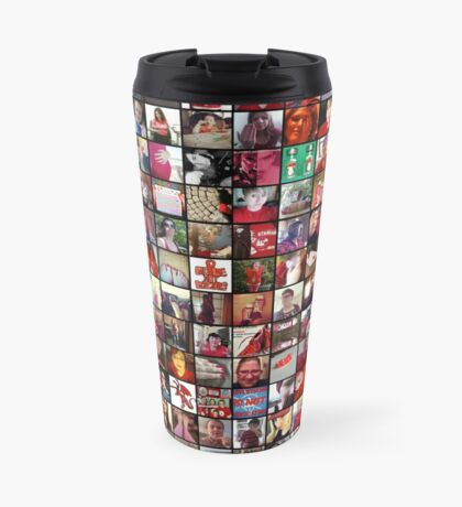 #WalkInRed2015 Collage C Travel Mug