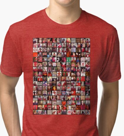 #WalkInRed2015 Collage C Tri-blend T-Shirt
