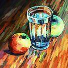 Still Life: Apple in a Glass of Water by Oleg Atbashian
