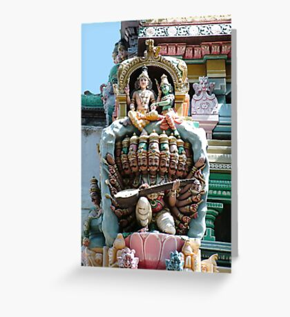 Hindu Deities, India Greeting Card