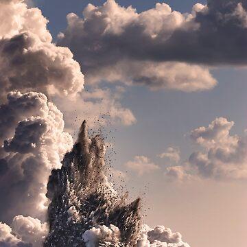 Kilauea Volcano at Kalapana 3b by alex4444
