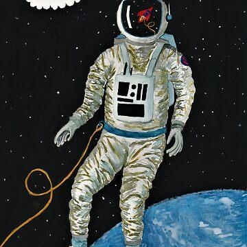 Worried Astronaut by Inspiredxcintra