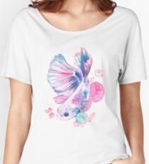 Floral Betta  Women's Relaxed Fit T-Shirt