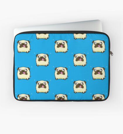 Silly Pug Sticking Out Tongue Laptop Sleeve