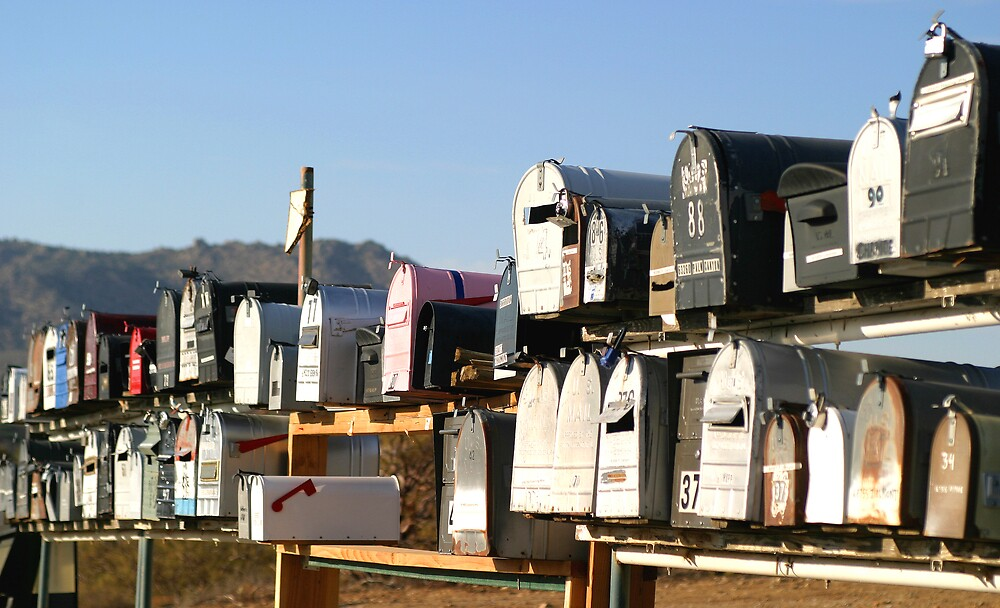 Desert Mailboxes by Christopher Toumanian
