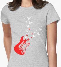 Butterfly Guitar Women's Fitted T-Shirt