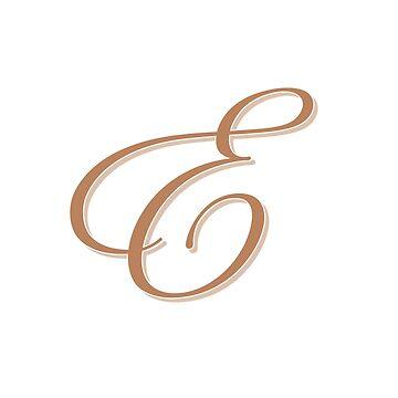 Gold Elegant Monogram - E by artbachelor