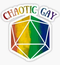 Chaotic Gay d20 Sticker