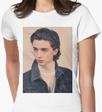 Timothee Chalamet Tailliertes T-Shirt