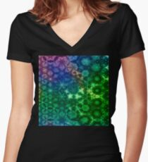Vernal Metamorphosis 7 Women's Fitted V-Neck T-Shirt