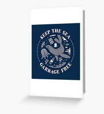 Keep the Sea Garbage Free - Seal Greeting Card