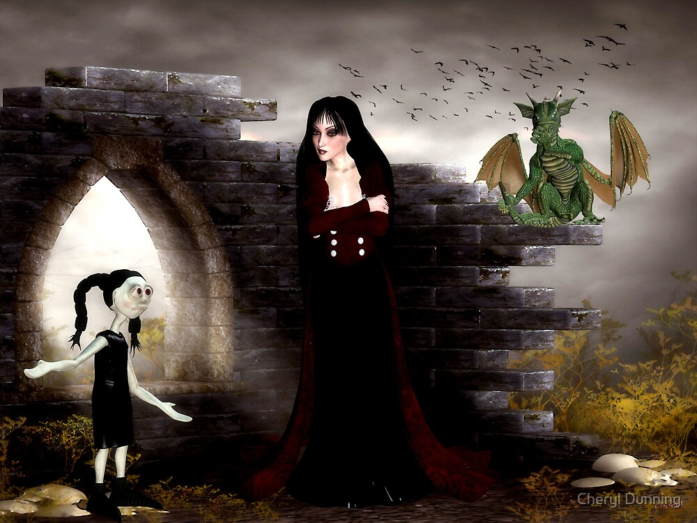 no..i don't know where that dragon came from by Cheryl Dunning