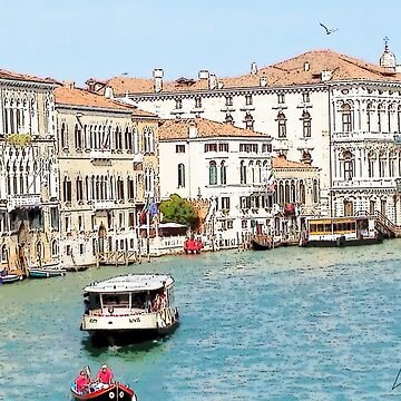 """Transportation the Venice Way"", Photo / Digital Painting by KJACDesigns"