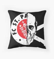 St Pauli Skull Throw Pillow