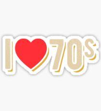 Love The 70's Tshirt Sticker