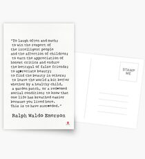 """""""To laugh often and much;"""" Ralph Waldo Emerson quote Postcards"""