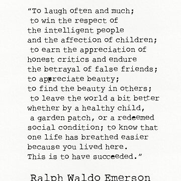 """To laugh often and much;"" Ralph Waldo Emerson quote by Pagarelov"