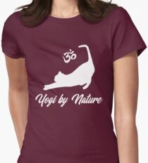 Yogi by Nature Cat Yoga Shirt Funny Yoga Cat T-shirt Women's Fitted T-Shirt