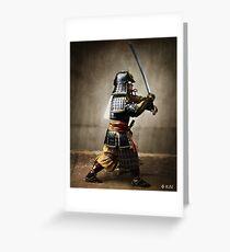 Samurai and Katana, colorized Greeting Card